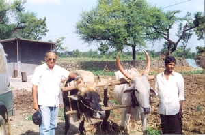 Dilip with Santha (neigbour farmer Babar mama's younger son)
