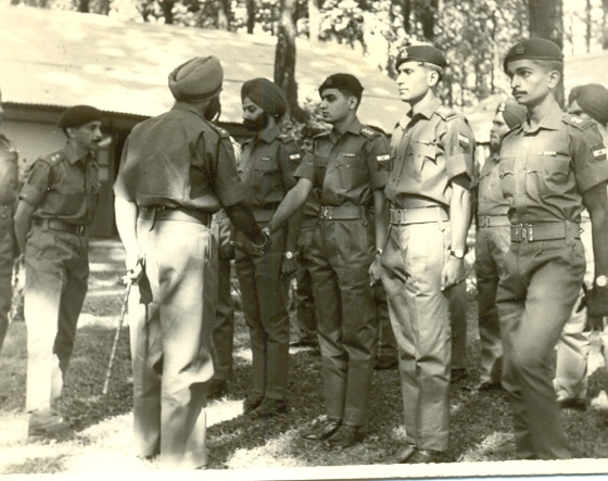 Me as young officer being introduced